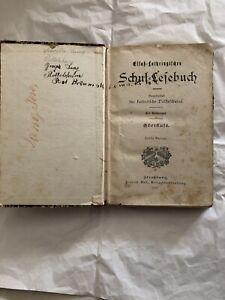 Ancien Livre Scolaire En Allemand 1910 Ecole De Strasbourg