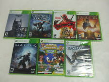 XBox 360 - 7 Game Lot Halo 4, Deadpool, Fable III, Batman Arkham Origins MISB