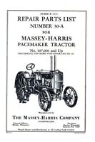 Massey Harris Pacemaker Tractor Parts List Manual MH