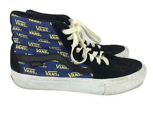 vans blue high top Men's 7.5 Ultracush 721454 Skateboard Shoe Yellow Vans Logo