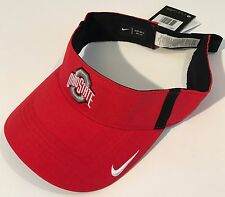 NEW Ohio State Buckeyes OSU Nike Dri-Fit Vapor Visor OSFM Team Issued FREE SHIP