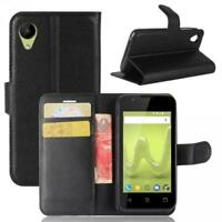 Wiko Sunny 2 Coque de protection Housse Pochette Wallet Case Noir
