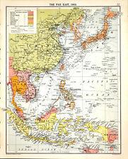 FAR EAST - CHINA - JAPAN - BORNEO 1905 Robertson & Bartholomew ANTIQUE MAP