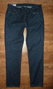 New GAP JEANS Mens Slim Straight Blue Jeans Cotton W 34 L 32 Trousers
