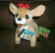 "New CLARICE Rudolph Red Nose Reindeer CVS Stuffins LARGE 12"" PLUSH + Golden Book"