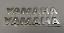 YAMAHA 3D SILVER BADGE LOGO STICKERS GRAPHICS DECALS SUPERBIKE R1 R6 MT01 MT07