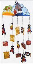 Mobile aus Holz, Modell Piraten, 15 Anhängefiguren, Windspiel