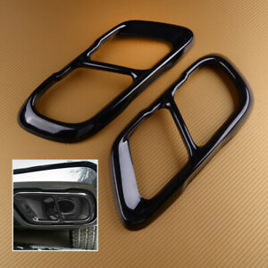 2pcs Stainless Steel Cover Muffler Exhaust Tip Trim Frame Fit For BMW X5 G05 X7