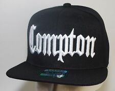 Compton Snapback L.O.G.A. 3D Hat Baseball Cap Black NWA CPT NEW!