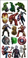 Girls/Boys AVENGERS Temporary Tattoos Great for Party Bags Size 9cm x 19cm