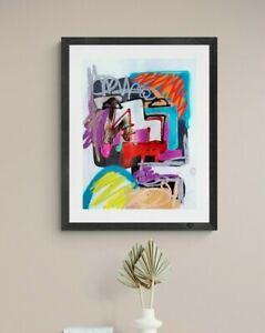 MINECRAFT HEAD EXPRESSIONIST ART PAINTING NEW CONTEMPORARY MODERN WALL BEDROOM
