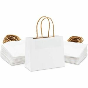 Mini Paper Gift Bags with Handles for Baby Shower, Birthday Party (50 Pack)