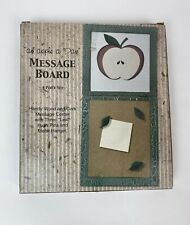 Giftco Wooden Message Cork Board Push Pins Hangar Apple a Day Themed Wall Art