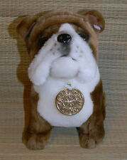 "New Dan Dee Collector's Choice 8"" Plush Bulldog Stuffed Toy Brown & White Dog"