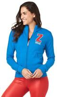 Zumba Made With Love Zip-Up Jacket - True Blue Z1T01867