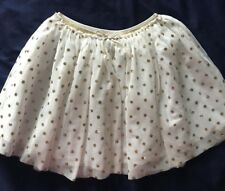 Girl's H&M Beige/Gold dots Skirt Size 8-10 Years