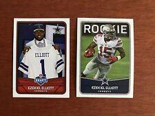 Two (2) 2016 Panini EZEKIEL ELLIOTT Stickers Dallas Cowboys RC #12 #242 Rookie