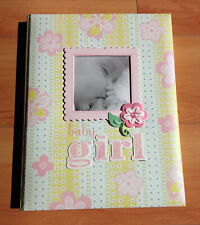 NEW CR Gibson Lulu Floral Baby Girl Memory Keepsake Record Book 1st 5 Yrs