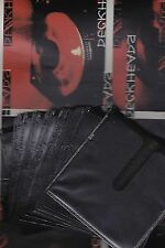 20 CD / DVD Black plastic Sleeves with double pockets NEW (Brand Ace Case)