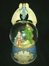 Jesus Mary Joseph Nativity Scene Musical Snow Globe San Francisco Music Box Co