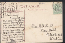 Genealogy Postcard - Hill - Sion Hill, Blackrock, Dublin  RF602