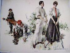 "Vintage 1906 Print ""Their First Hazard"" by Howard Chandler Christy"" *"
