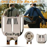 1* Magnetic Metal Golf Hat Clip Golf Putting Alignment Aiming Ball Marker Tool
