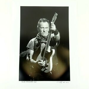 Bruce Springsteen 2016 Photo Print Signed & Dated by Photographer Jérôme Brunet