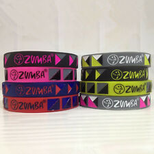 Zumba VIBE Mixed Rubber Wristband Silicone Bracelet Jelly Wrist Band 8pcs