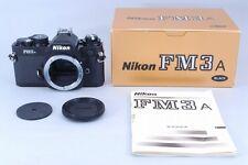 [Top Mint!!] Nikon FM3A Black 35mm SLR Film Camera Body with Box from Japan #008