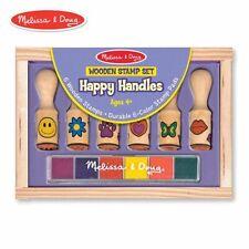 Melissa & Doug 2407 Happy Handles Wooden Stamp Set