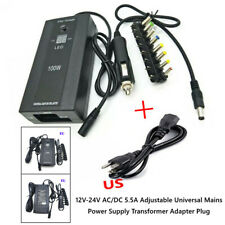 1a 12v 24v Acdc Adjustable Universal Mains Power Supply Transformer Adapterplug