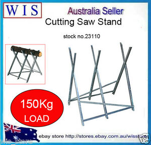 Portable Log Horse Holder Chainsaw Non Slip Fire Wood Stand Saw Chain Bar Work