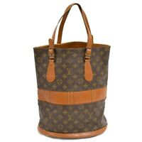 Louis Vuitton Bucket GM T42236 Monogram Shoulder Tote Hand Bag Purse Brown LV