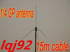 Cable Powerful 1/4 GP antenna for 0.5-30 Watt FM transmitter 15M BNC 98MHZ