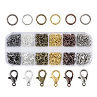 1Box 12mm Alloy Lobster Claw Clasps Trigger Closure & 5mm Iron Jump Ring 6-Color