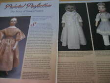 11pg Susan Fosnot Doll History Article / Hand Painted Cloth Rag Dolls / Ann Leis