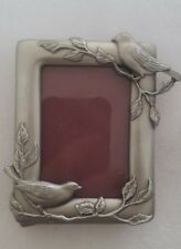 Vintage Seagull Pewter Photo Frame 2x3 Picture 1992 Birds Tree Branches