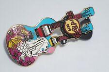 Hard Rock Cafe - Vintage HRC Sentosa, Singapore Twin Guitar Pin, Limited Edition