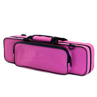 **GREAT GIFT**C Flute/Piccolo Combo Case/Shoulder Strap/Bright Pink CLEARANCE