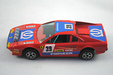 BURAGO 1:43 FERRARI 308 GTB auto da corsa nel 39 Saba TV video HIFI LOGO