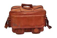 Laptop Bag Shoulder Messenger Men Vintage Style Leather Satchel School Bag