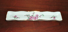 Oakley China Mint Dish Fine Bone China Floral Gold Colored Trim Made In England