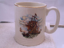 1975  LORD NELSON WARE TANKARD  WITH A SMALL BOAT BY A GALLEON