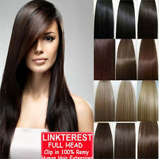 Hair extensions ebay 7pcs 15 18 20 22 clip in remy real 100 human pmusecretfo Images