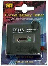 ROLLS BT301 Battery Tester Tests 9V, AA, AAA, C, D batteries