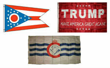 3x5 Trump Red & State of Ohio & City of Cincinnati Wholesale Set Flag 3'x5'