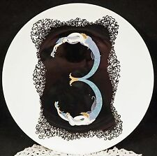 Erte Plate Art Deco Style Nude The Numerals Bone China Japan 1986 Number 3 Boxed