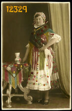 Amazing hand colored photograph, woman in national costume, rare, Kalocsa  1931