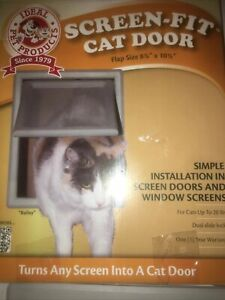 """Ideal Pet Products Screen Fit Cat Door-    8 7/8"""" x 10.5"""" Flap Size  Up To 20 Lb"""